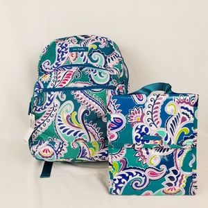 NWT Vera Bradley Lighten Up Essential Backpack Set